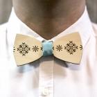 Деревянная галстук-бабочка из фанеры AB012