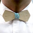 Деревянная галстук-бабочка из фанеры AB013