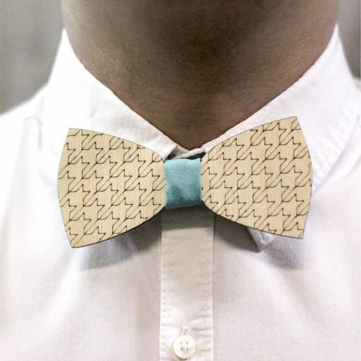 Деревянная галстук-бабочка из фанеры AB014