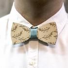 Деревянная галстук-бабочка из фанеры AB017