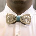 Деревянная галстук-бабочка из фанеры AB019