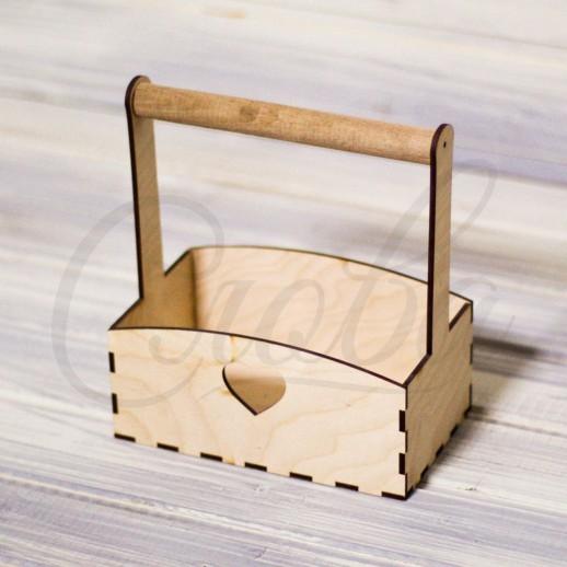 Ящик под цветы c деревянной ручкой , фанера К029